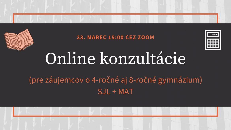 Online konzultácie SJL + MAT